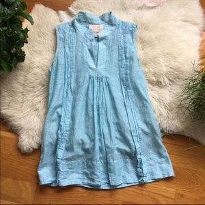 Fine Garments By Bell   Silk Blend Tunic Tank Top